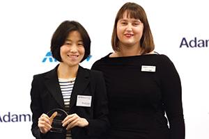 Sung-Ah Sohn, J.P. Morgan collecting the award on behalf of eBay Korea