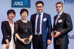 Zhang Lei, Shao XinZhi and Wang Wei, Haier Group and Martijn Stoker, J.P. Morgan
