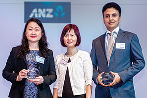 Jennifer Leong and Jasline Chua, Cummins Asia Pacific and Vijay Shankar, ANZ