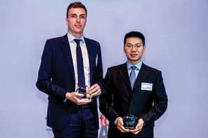 Loic Senechal, BNP Paribas and Yang Peng, Shenzhen Kaifa Technology