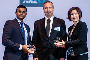 Sharath Gopinath and David Davies, Bacardi Limited and Christine (Jang) Tan, J.P. Morgan