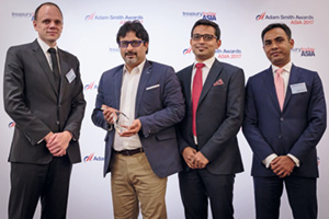 Photo of Benjamin Hadfield, Vipul Sardana, Shoby Jose and Mayur Chawda, Maersk Trade Finance.