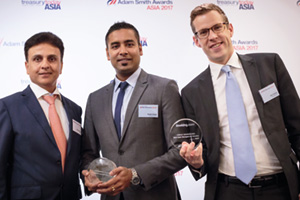 Photo of Vijay Shankar, ANZ, Yankit Gupta and Bart Verweij, Booking.com.
