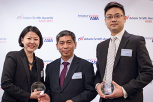 Photo of Lillian Sim, J.P. Morgan, Chye Seng Goh and Aiden Fung, Anglo-Eastern Univan Group.