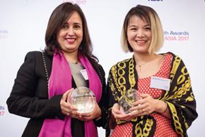 Photo of Swati Mitra, Citi and Li Lan, Alibaba Group.