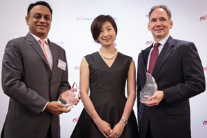 Photo of Ankur Gupta, Bank of America Merrill Lynch, Adrianne Fung and Michael T. Molloy, Rio Tinto.