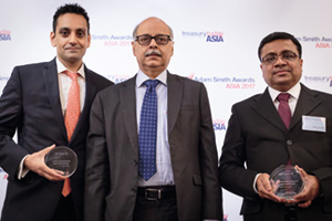 Photo of Atul Jain, Deutsche Bank, Samir Ashta and Biren Fozdar, SE Solar Limited.