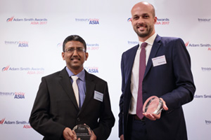 Photo of Sooria Narayanan, Flex and Thomas Aubry, Citi.