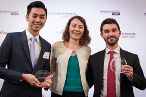 Photo of Malcolm Ow Yong, BNP Paribas, Magali Drevet and Jérôme Ruchaud, Amaris.