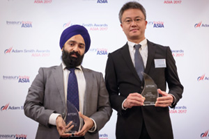Photo of Aman Singh Chadha, Citi and Kentaro Notsuka, TDK China Co Ltd.