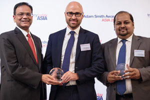 Photo of Ajay Kumar Jain, Standard Chartered, Nicholas Brunton and Khaled Rahmen, BAT Bangladesh Co Ltd.