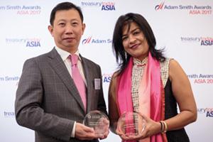 Photo of Li Bing, Juneyao Air Co Ltd and Namita Lal, Standard Chartered.