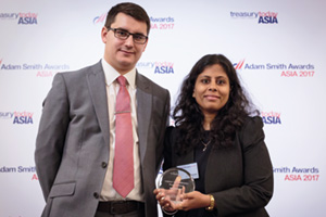Photo of James Hayward and Ruchi Agrawal, Sandoz Private Limited.