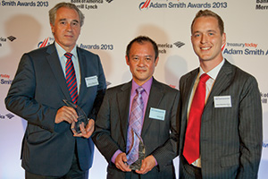 Pierre de Montessus, Bank of America Merrill Lynch, James Koh and James Westerby-Jones from Vertu