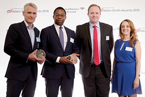 Han Hoestra, Prologis, Gaetan Okias, J.P. Morgan, Iain Currie, Prologis and Burcu Ondes, J.P. Morgan