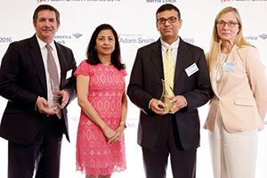 Martin Scott, HSBC, Anita Prasad, Rahul Daswani and Taru Rintamaki, Microsoft