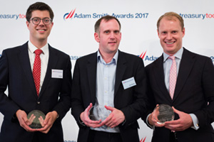 Arn Knol, Zanders, Philip Stewart, British American Tobacco and Paul Greenhalgh, Deutsche Bank