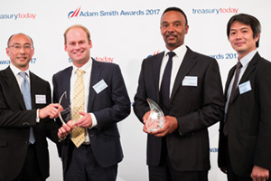 Sadachika Yoshioka, J.P. Morgan and Brenton Green, Mark Baker and Hirotoshi Yoshida, NTT DATA EMEA Ltd