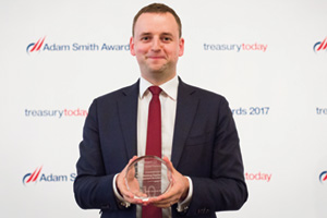 Chris Jameson, Bank of America Merrill Lynch collects the award on behalf of Walmart