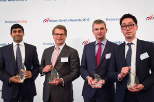 Sabry Salman, Barclays, Michiel Radder, BNP Paribas, Simon Jones, J.P. Morgan and Joshua Park, Hyundai Capital America
