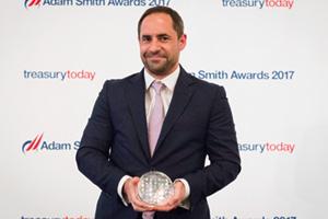 Benjamin Gilbert, Citi collects the award on behalf of Diageo