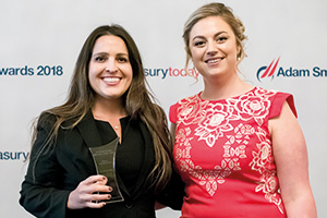 Photo of Amanda Schreiber, ICU Medical and Meg Coates
