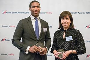 Photo of Elliott Blissett, Bank of America Merrill Lynch and Kamla Rhodes, ConocoPhillips