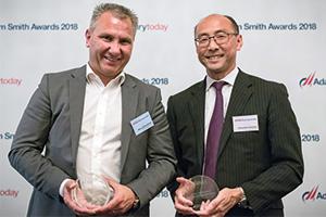 Photo of Marco Schuchmann, ASICS Europe B.V. and Sadachika Yoshioka, J.P. Morgan