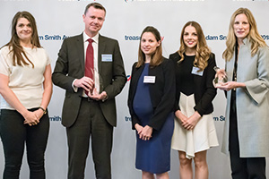 Photo of Lucinda Hamilton, Sean Privilege, Zoe Ealand and Katherine Sefton, John Lewis Partnership and Camilla McKane, J.P. Morgan Asset Management