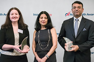 Photo of Natasha Condon, Citi, Anita Mehra and Rahul Daswani, Microsoft
