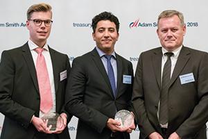 Photo of Marcus Kiene, Serrala, Ridoune El Azizi and Arkadius Stroda, thyssenkrupp AG