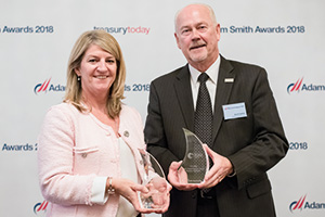 Photo of Lesley White, Bank of America Merrill Lynch and Dave Sather, Brake Parts Inc LLC