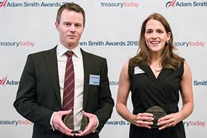 Photo of Michael Payne, National Express and Yuliya Komleva, Thomson Reuters