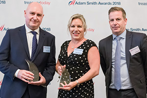 Photo of Andrew Wyres and Shona Blackmore, Carnival UK and Clifford Lucas, Bank of America Merrill Lynch