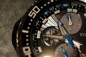 Close up of detailed watch
