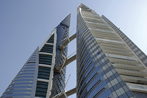 Bahrain world financial centre under construction