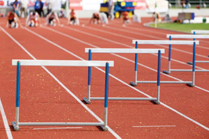 Photo of running hurdles