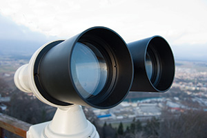 Photo of coin operated binoculars