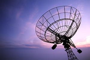 Photo of a satellite dish antenna