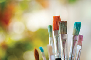 Colourful paintbrushes