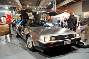 Helsinki, Finland: X-Treme Car Show, showing 1982 Delorian DMC-12 on October 3, 2009