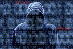 Cyber hacker cracking codes