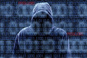 Cyber hacker cracking codes