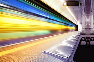 Motion blur of a high speed train