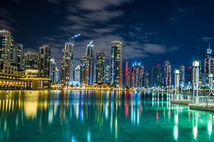 Dubai skyscraper landscape