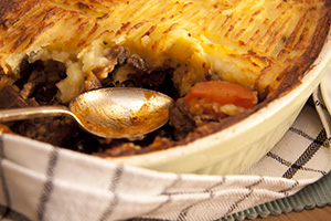 Mouth watering cottage pie