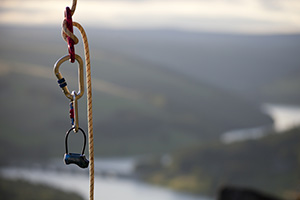 Rock climbers equipment