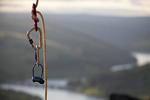 Rock climbers equipment