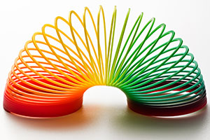 Multi-coloured slinky