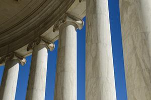 Group of pillars
